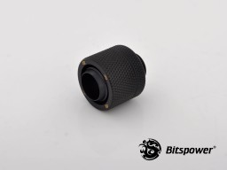 "G1/4"" Carbon Black Compression Fitting CC6 V2 For ID 7/16"" OD 5/8"" Tube"