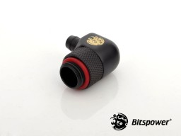 "G1/4"" Carbon Black Rotary Angle 1/4"" Fitting"