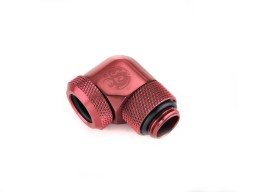 "Bitspower Deep Blood Red Enhance Rotary G1/4"" 90-Degree Multi-Link Adapter For OD 12MM"