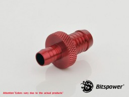 "Deep Blood Red 3/8"" To 1/4"" Tube Adapter"