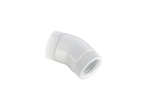 Bitspower Deluxe White 30-Degree With Dual Rotary Inner G1/4