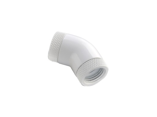 Bitspower Deluxe White 45-Degree With Dual Rotary Inner G1/4