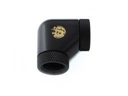 "Bitspower Matt Black 90-Degree With Dual Rotary Inner G1/4"" Extender"