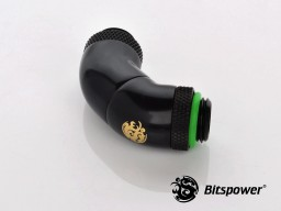 Matt Black Triple Rotary Mini Snake-Style Dual G1/4