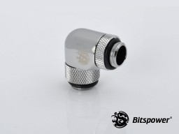 """G1/4"""" Silver Shining Dual Rotary Angle G1/4"""" Extender"""