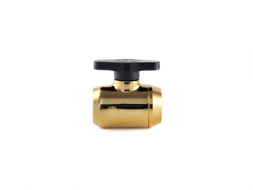 True Brass Mini Valve With Black Handle