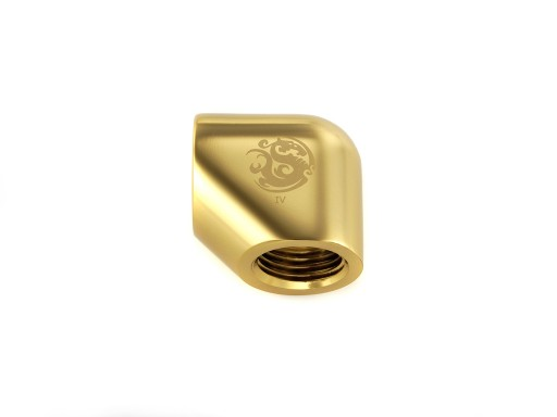 Bitspower True Brass 90-Degree With Dual Inner G1/4