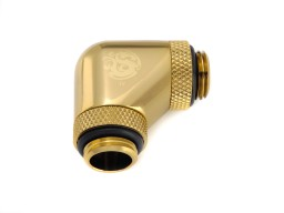 "Bitspower True Brass 90-Degree With Dual Rotary G1/4"" Extender"