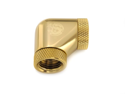 Bitspower True Brass 90-Degree With Dual Rotary Inner G1/4