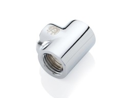 Bitspower Silver Shining T-Block With Triple IG1/4""