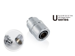 "Bitspower G1/4"" Silver Shining Rotary Compression Fitting CC2 Ultimate For ID 3/8"" OD 1/2"" Tube"