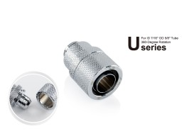 "Bitspower G1/4"" Silver Shining Rotary Compression Fitting CC6 Ultimate For ID 7/16"" OD 5/8"" Tube"