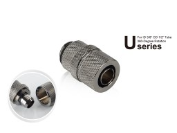 "Bitspower G1/4"" Black Sparkle Rotary Compression Fitting CC2 Ultimate For ID 3/8"" OD 1/2"" Tube"