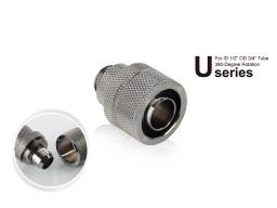 "Bitspower G1/4"" Black Sparkle Rotary Compression Fitting CC5 Ultimate For  ID 1/2"" OD 3/4"" Tube"