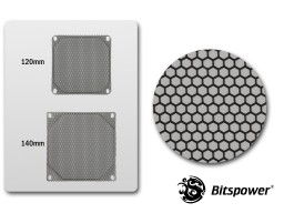 140MM Panel For Bitspower CUSTOM DESIGN RADGARD -Honeycomb Design (Black)