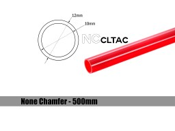 Bitspower None Chamfer Crystal Link Tube OD 12MM – Length 500MM (Deep Red)