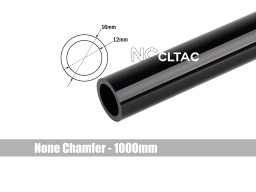 Bitspower None Chamfer Crystal Link Tube OD 16MM - Length 1000MM (Black)