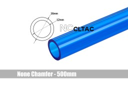 Bitspower None Chamfer Crystal Link Tube OD 16MM - Length 500MM (ICE Blue)