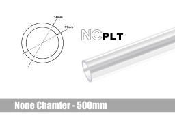 Bitspower None Chamfer PETG Link Tube OD14MM-Length 500MM