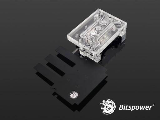 Bitspower THOR GAIX99 Nickel Plated Full-Covered-Block (Clear)
