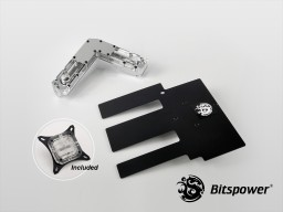 Bitspower AIZ97M7HR Nickel Plated Full-Covered-Block (Clear)