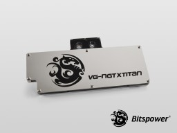 Bitspower VG-NGTXTITAN Nickel Plated ICE Black Acrylic Top With Panel (ICE Black/Silver)