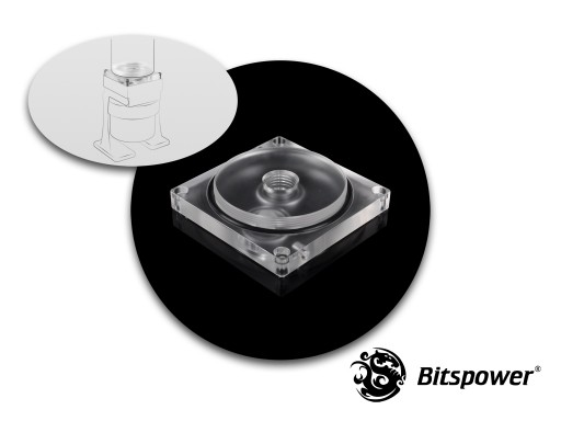 Bitspower Dual/Single D5 TOP Reservoir Adaptor (Clear Acrylic)