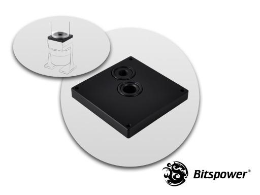 Bitspower Dual/Single D5 TOP Reservoir Adaptor (Black POM)