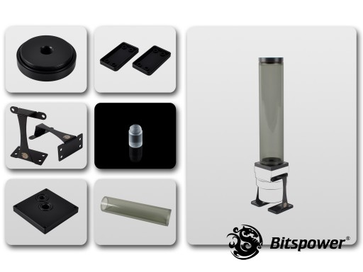 Dual/Single D5 Top Upgrade Kit 250 (ICE Black Tube+Black POM Cap)