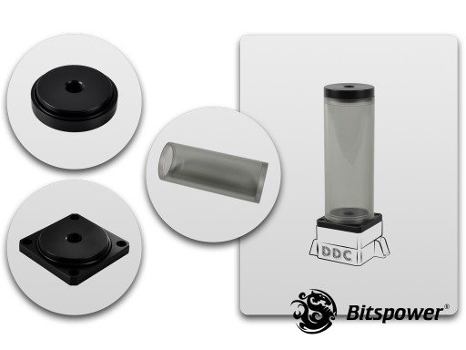 Bitspower DDC TOP Upgrade Kit 150(ICE Black Body & Black POM Version)
