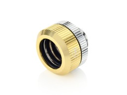 "Touchaqua Dual O-Ring G1/4"" Tighten Fitting For Hard Tubing OD14MM (Golden) (2 PCS )"