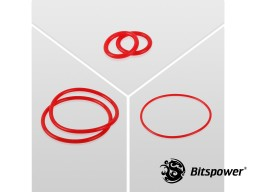 O-Ring Kit For Bitspower Dual D5 MOD TOP (Deep Red)