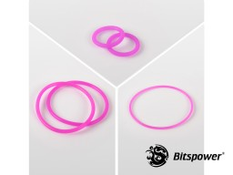 O-Ring Kit For Bitspower Dual D5 MOD TOP (UV Purple)