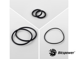 O-Ring Kit For Bitspower Dual D5 MOD TOP EXTREME (Black)