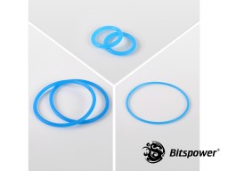 O-Ring Kit For Bitspower Dual D5 MOD TOP EXTREME (UV Blue)