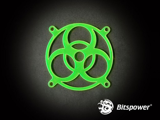 80MM LASER CUT UV-Reactive FAN Grill Biohazard