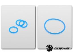 O-Ring Kit For Bitspower D5 MOD TOP (UV Blue)