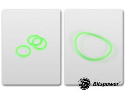 O-Ring Kit For Bitspower D5 MOD TOP (UV Green)