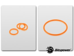 O-Ring Kit For Bitspower D5 MOD TOP (UV Orange)