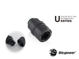 "Bitspower G1/4"" Matt Black Rotary Compression Fitting CC2 Ultimate For ID 3/8"" OD 1/2"" Tube"