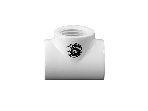 Bitspower Deluxe White T-Block With Triple IG1/4