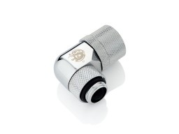 "Bitspower G1/4"" Silver Shining Dual Rotary Angle Compression Fitting CC2 V3 For ID 3/8"" OD 1/2"" Tube"