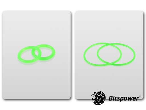 O-Ring Kit For Bitspower Water Tank Z-Multi (Full Clear Acrylic Version) (UV Green)