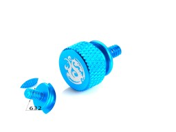 Bitspower Logo Aluminum Thumb Screw For 632 (Blue)