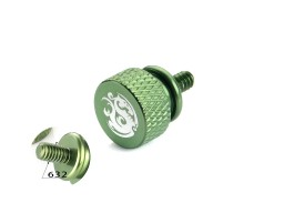 Bitspower Logo Aluminum Thumb Screw For 632 (Green)