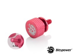 Bitspower Logo Aluminum Thumb Screw For 632 (Red)