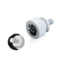Bitspower Logo Aluminum Thumb Screw For 632 (White)