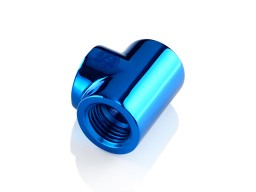 Bitspower Royal Blue T-Block With Triple IG1/4""