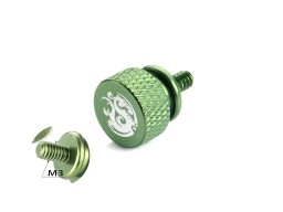 Bitspower Logo Aluminum Thumb Screw For M3 (Green)