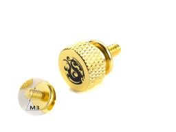 Bitspower Logo Aluminum Thumb Screw For M3 (Golden)